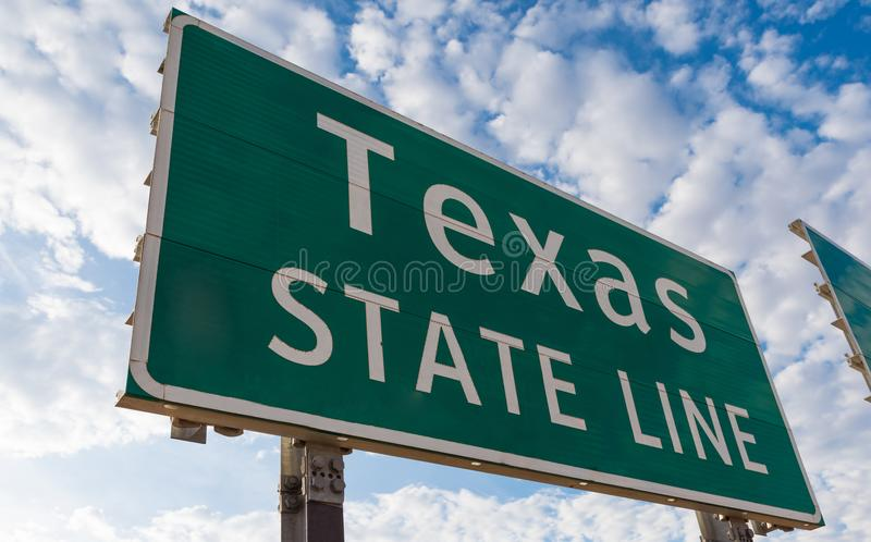 Teksas granicy stanu znaka markier obrazy royalty free