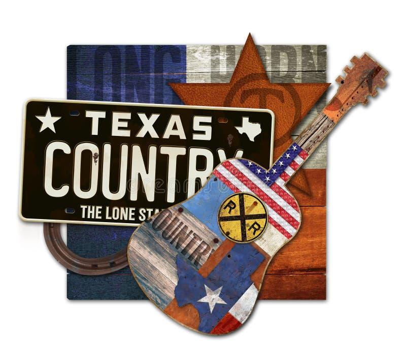 Teksas muzyka country sztuki kawałek zdjęcia stock