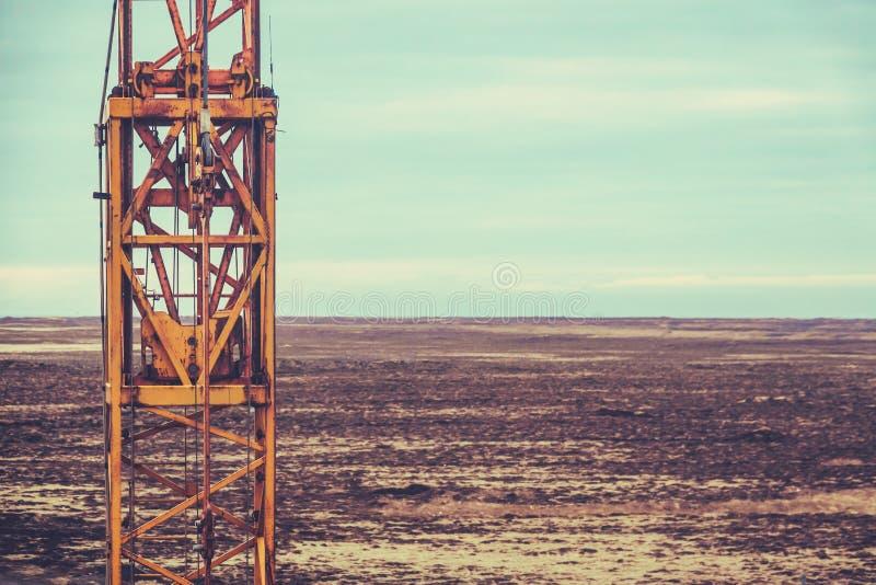 Teksas pola naftowego maszyneria zdjęcia royalty free