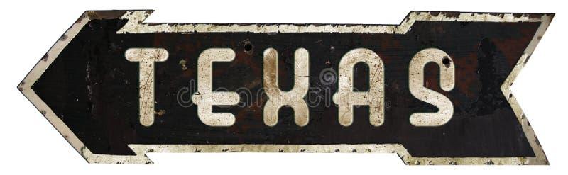Download Teksas Roadsign strzała ilustracji. Ilustracja złożonej z america - 106914786