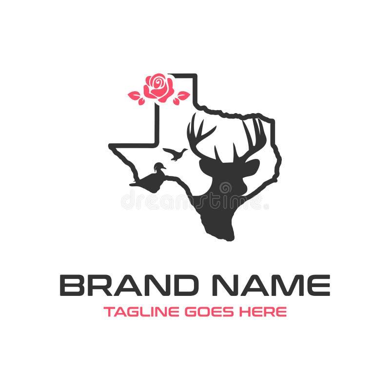 Teksas rogaczy logo royalty ilustracja