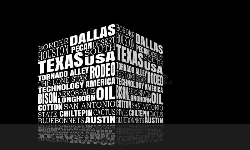 Teksas słów chmura ilustracji