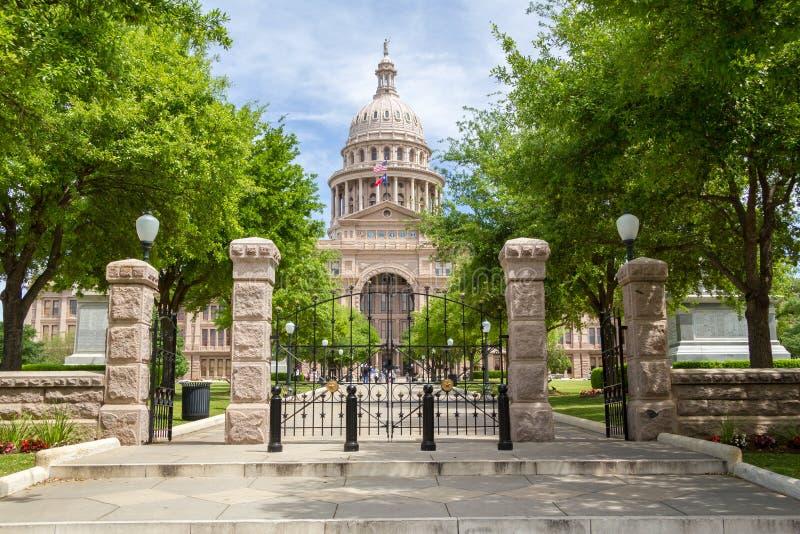 Teksas stanu Capitol frontowy widok zdjęcie stock
