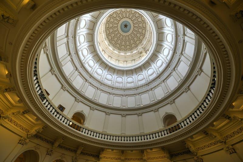 Teksas stanu Capitol rotunda, Austin, Teksas fotografia royalty free