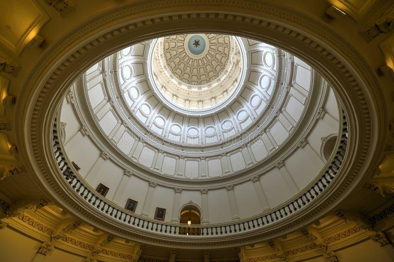 Teksas stanu Capitol rotunda, Austin, Teksas zdjęcia royalty free