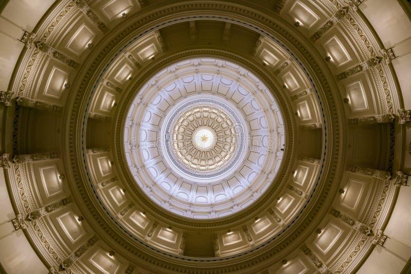 Teksas stanu domu rotundy sufit obraz stock