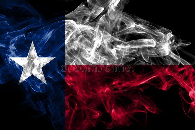 Teksas stanu dymu flaga, Stany Zjednoczone Ameryka ilustracji