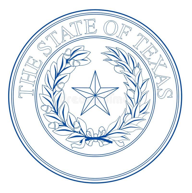 Teksas stanu foka ilustracji
