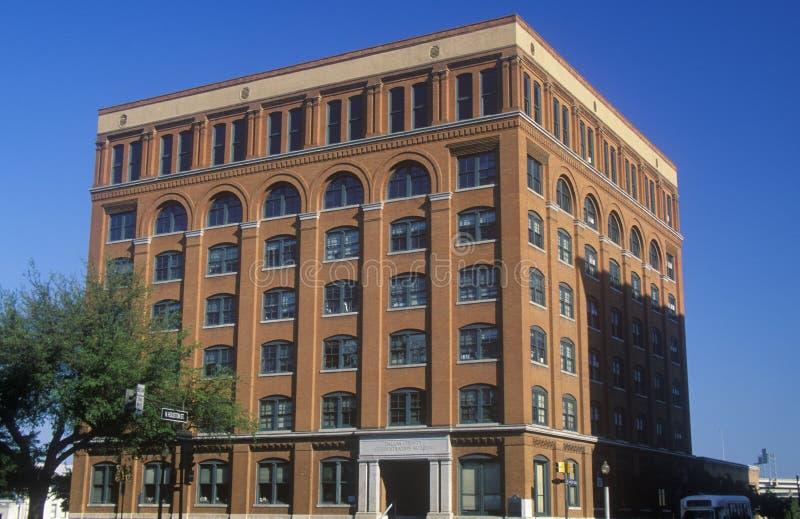 Teksas Szkolnej książki Depository budynek, miejsce JFK zabójstwo, Dallas, TX zdjęcia royalty free