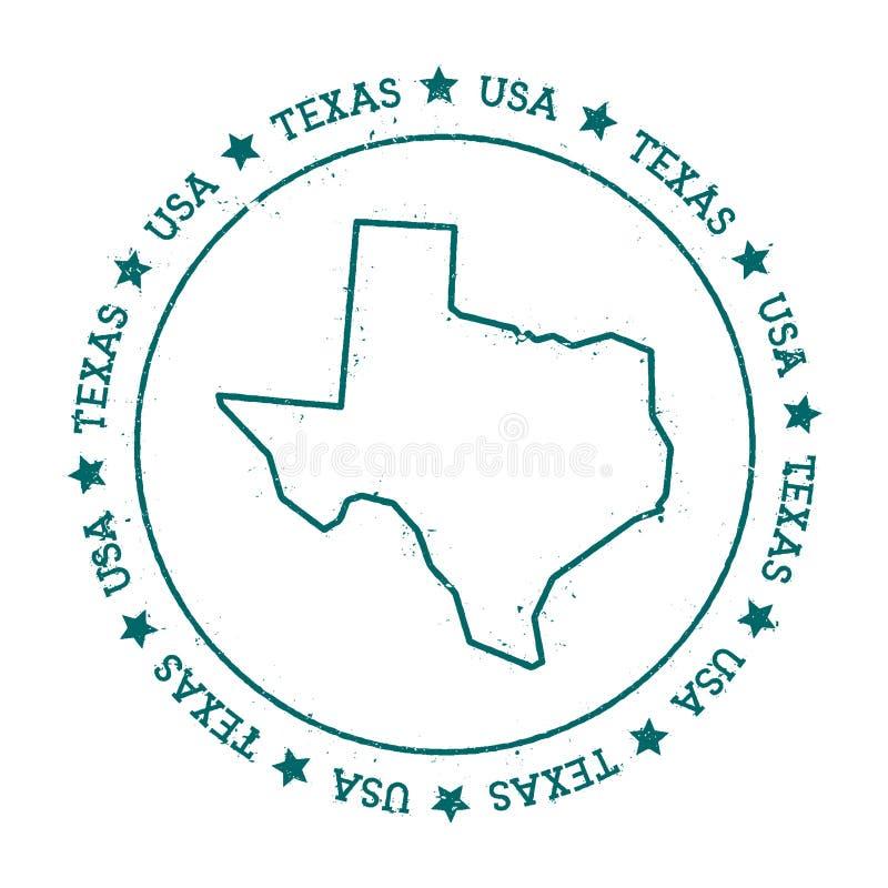 Teksas wektorowa mapa ilustracji