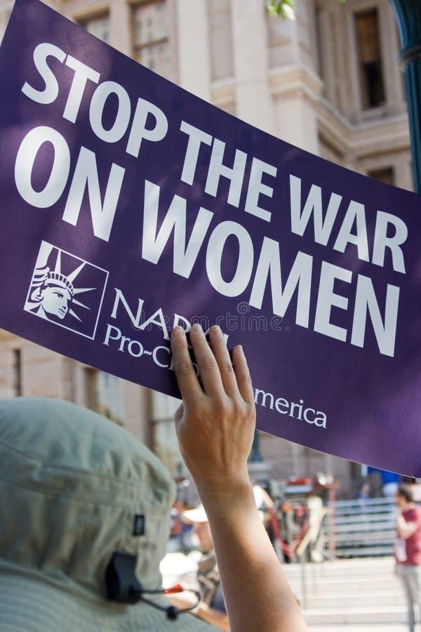 Teksaski Za Aborcją Protestor Zdjęcie Stock Editorial