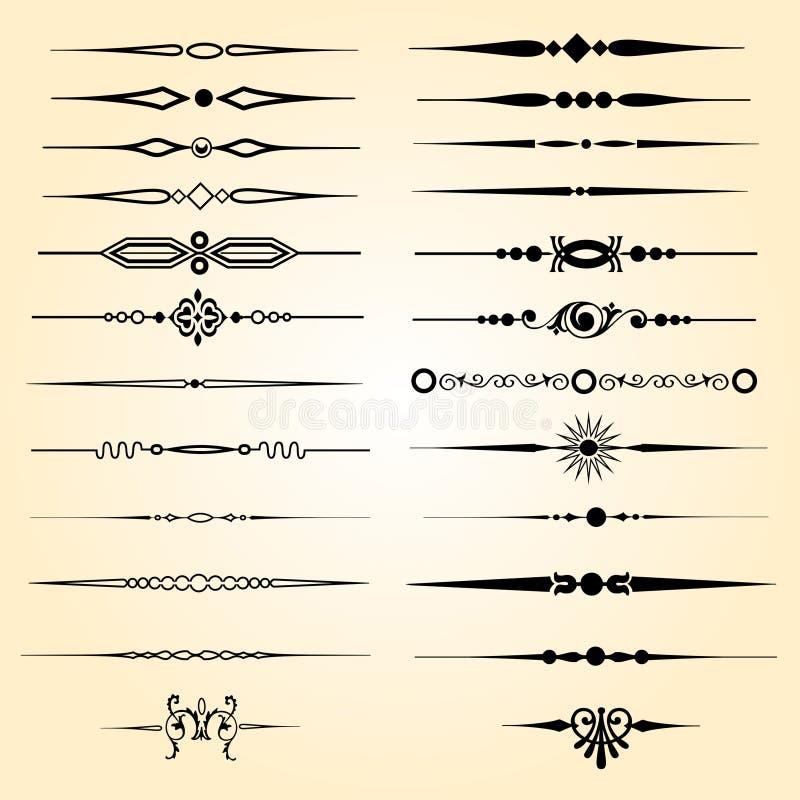 Tekstów dividers ilustracji