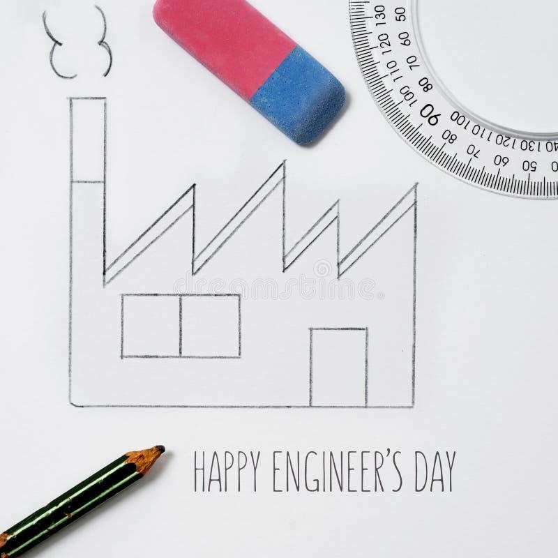 Tekstów inżynierów szczęśliwy dzień obraz royalty free