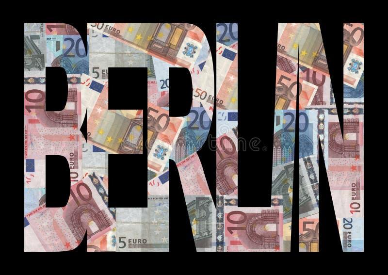 tekst berlin euro ilustracja wektor