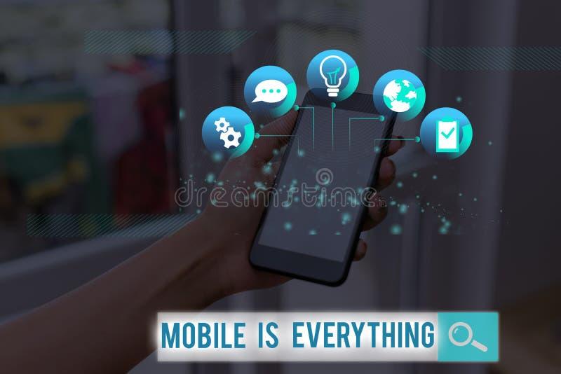 Tekst do pisania w formacie Word Mobile to wszystko Koncepcja biznesowa dla urządzenia komputerowego w urządzeniach przenośnych o obraz stock
