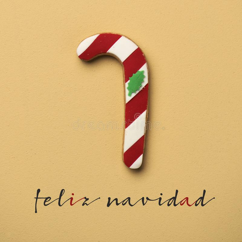 Tekst feliz navidad, vrolijke Kerstmis in het Spaans royalty-vrije stock afbeeldingen