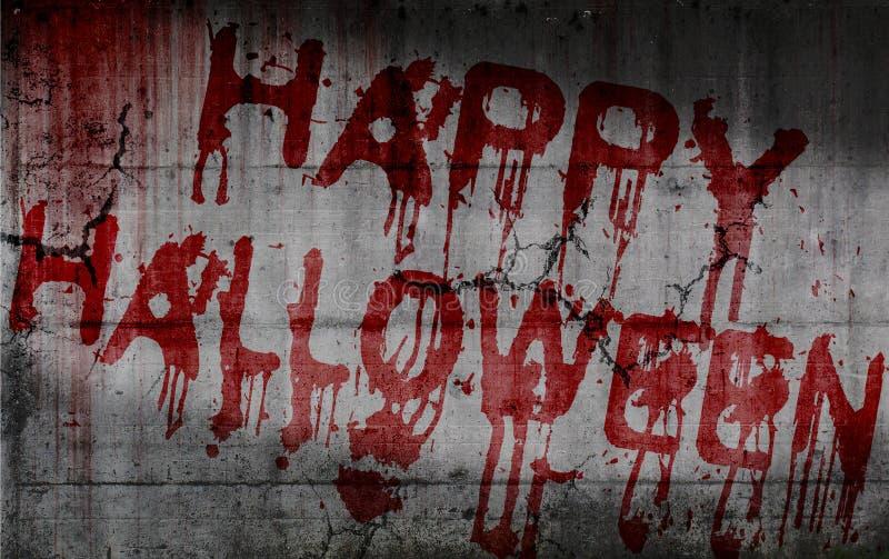 Tekst Gelukkig Halloween stock afbeelding