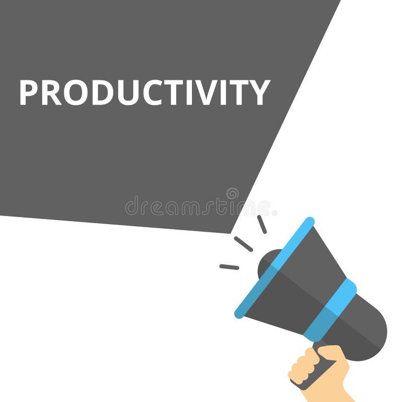 tekst het schrijven Productiviteit stock illustratie