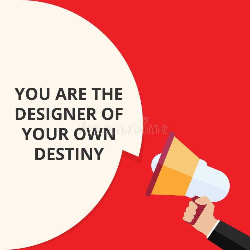 Tekst het teken die u is het Lot van Ontwerperof your own tonen stock illustratie