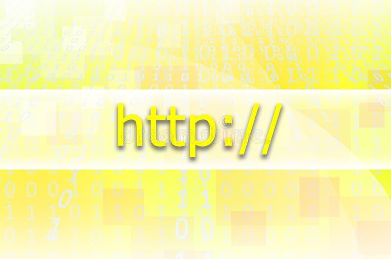 Tekst inskrypci HTTP napisze na semitransparent polu royalty ilustracja