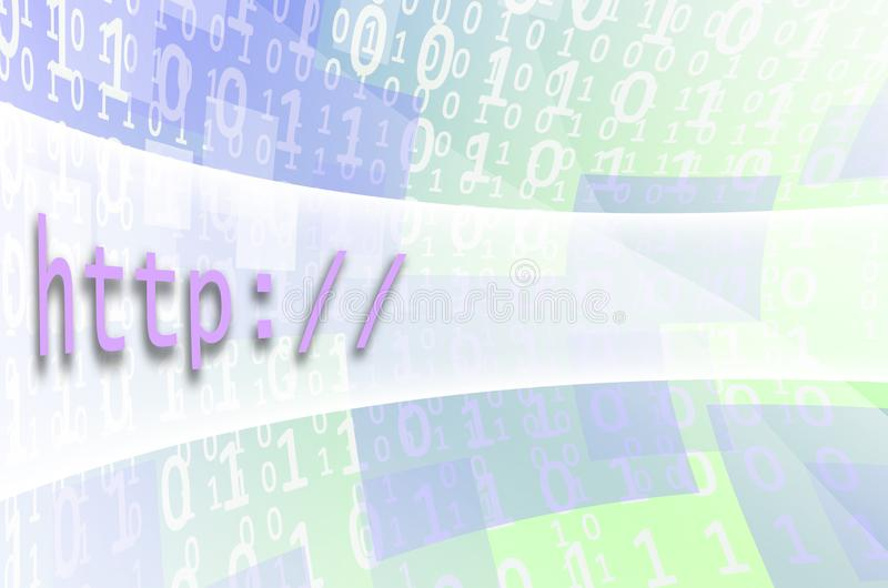 Tekst inskrypci HTTP napisze na semitransparent polu ilustracja wektor