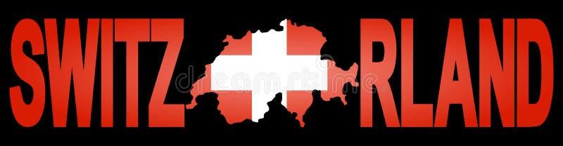 tekst mapy Szwajcarii royalty ilustracja
