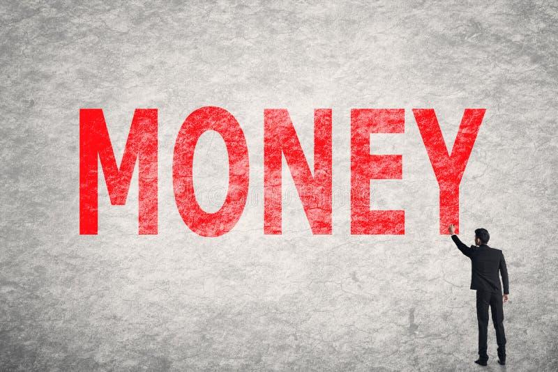 Tekst op muur, Geld royalty-vrije stock afbeeldingen