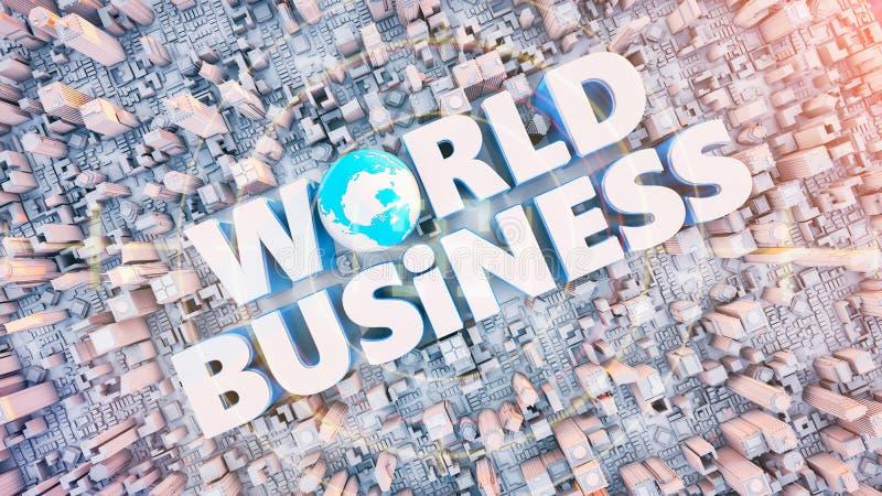 Tekst słowo Biznesowy udział przy centrum royalty ilustracja