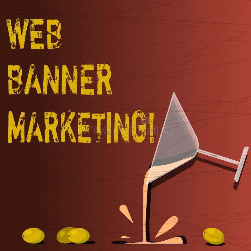 Tekst sieci sztandaru szyldowy pokazuje marketing Konceptualna fotografia powoduje osadzać reklamę w strona internetowa koktajlu  ilustracji