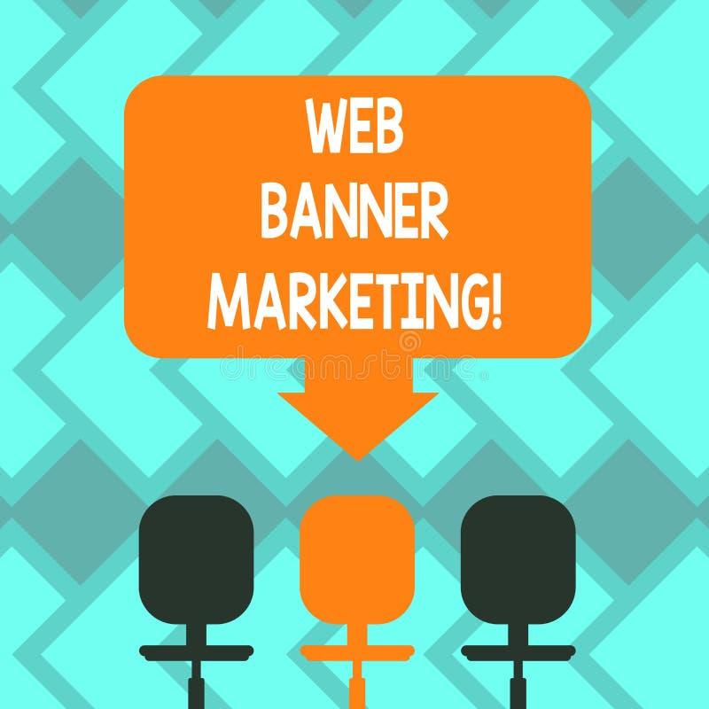 Tekst sieci sztandaru szyldowy pokazuje marketing Konceptualna fotografia powoduje osadzać reklamę w strony internetowej Pustej p ilustracja wektor