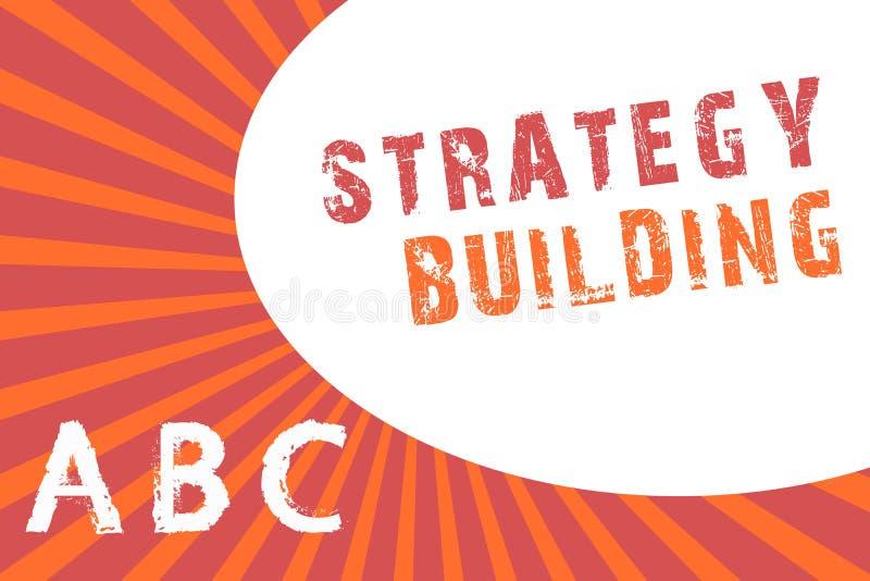 Tekst strategii szyldowy pokazuje Budować Konceptualna fotografia Wspiera kupienie i nabywanie inny platformy ilustracja wektor