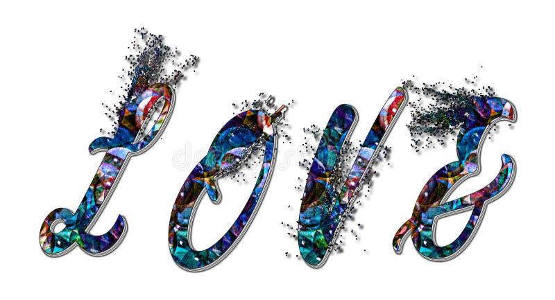 tekst styl Projekt Everything w słowie - miłość obraz royalty free