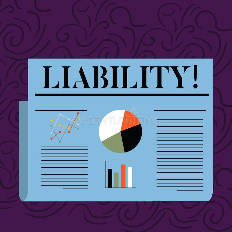 Tekst szyldowa pokazuje odpowiedzialność Konceptualny fotografia stan być legalnie odpowiedzialny dla coś odpowiedzialność Koloro royalty ilustracja