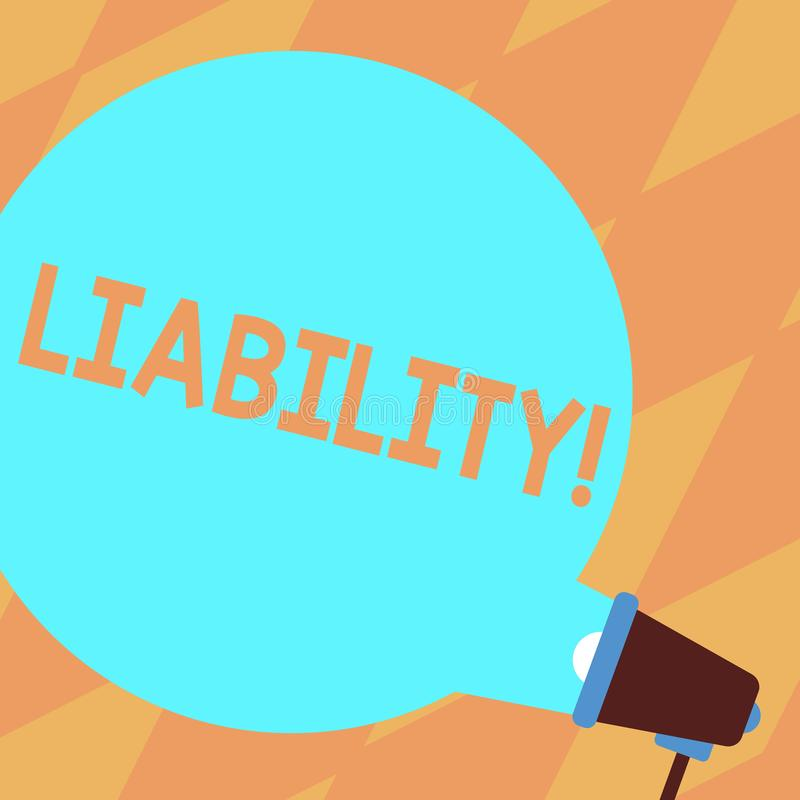 Tekst szyldowa pokazuje odpowiedzialność Konceptualny fotografia stan być legalnie odpowiedzialny dla coś odpowiedzialności puste ilustracja wektor