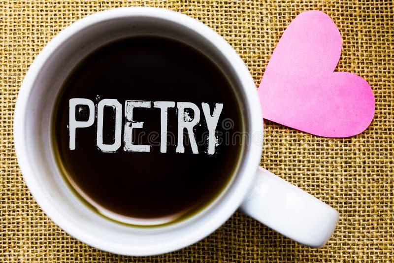 Tekst szyldowa pokazuje poezja Konceptualny fotografii dzieła literackiego wyrażenie uczucie pomysły z rytmów wierszami pisze Her obrazy royalty free