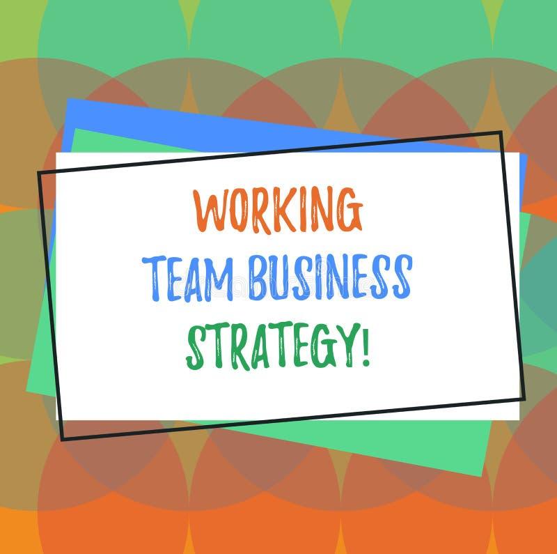 Tekst szyldowa pokazuje Pracująca Drużynowa strategia biznesowa Konceptualni fotografii firmy brainstorming pomysły dla produkcja ilustracji
