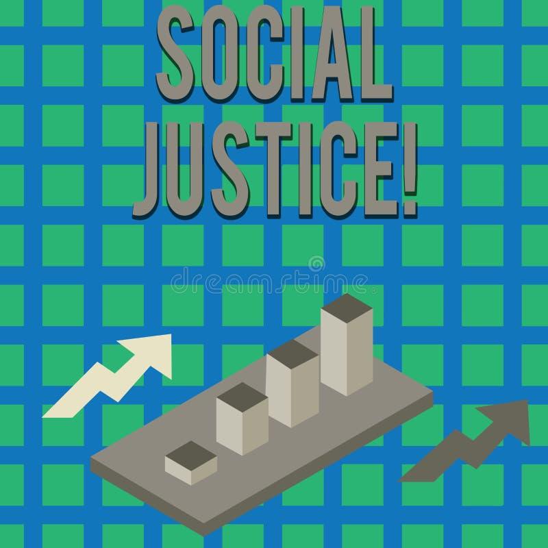 Tekst szyldowa pokazuje sprawiedliwość społeczna Konceptualny fotografii taki sam dostęp bogactwo i przywileje wśród społeczeństw ilustracja wektor