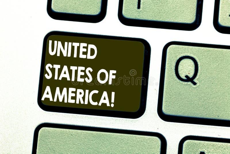 Tekst szyldowy pokazuje Ameryka Stany Zjednoczone Konceptualny fotografia kraj w północny Kapitałowy washington dc Klawiaturowym  ilustracji