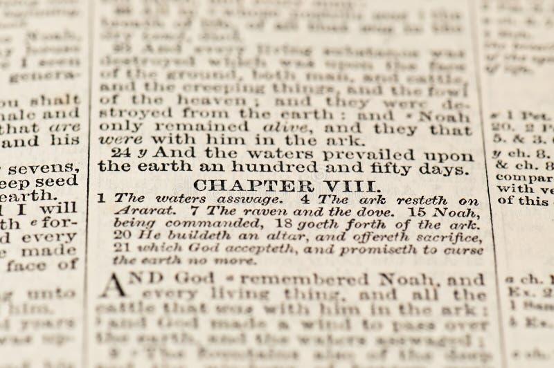 Tekst van Bijbel stock foto's