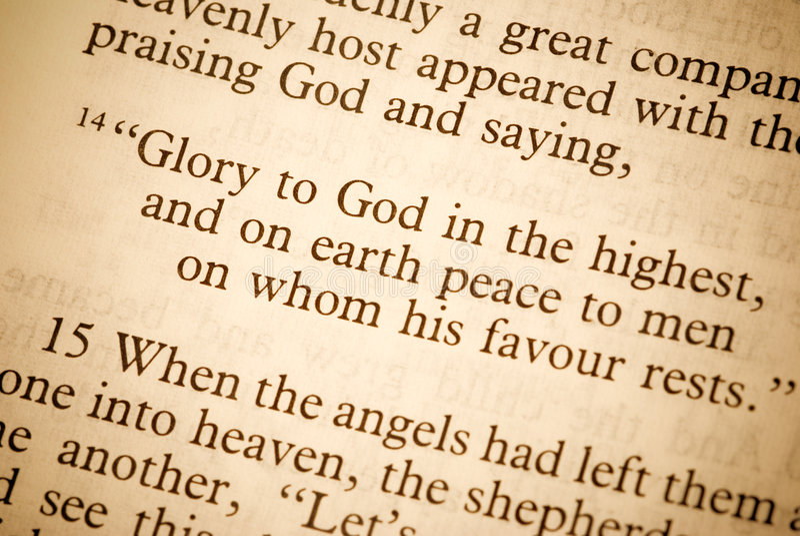 Tekst van de Bijbel stock foto's