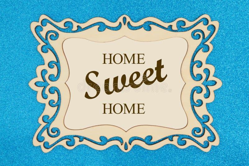 Tekst van het huis de Zoete Huis op een retro houten omlijsting royalty-vrije stock afbeeldingen