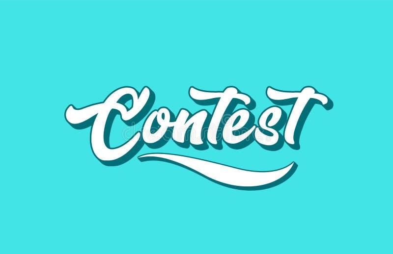 tekst van het wedstrijd de hand geschreven woord voor typografieontwerp royalty-vrije illustratie