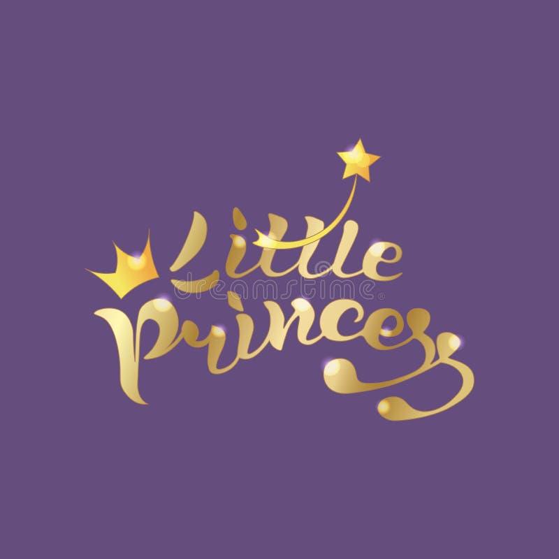Tekst Weinig gouden prinses royalty-vrije stock afbeeldingen