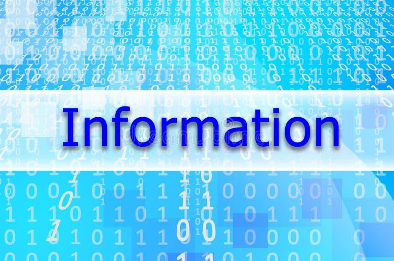 Tekst wpisowa informacja napisze na semitransparent ilustracja wektor