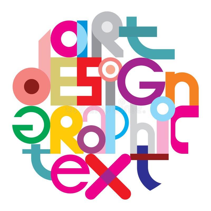 Teksta Graficzny projekt ilustracja wektor
