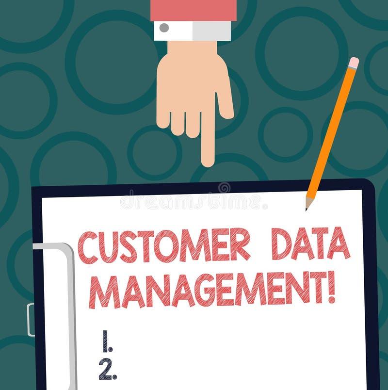 Teksta klienta szyldowy pokazuje zarządzanie danymi Konceptualna fotografii utrzymania analysisage i śladu klientów informacja Hu ilustracja wektor