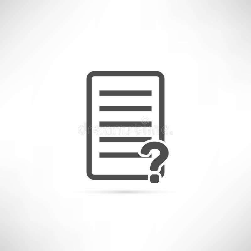 Teksta pytania ikona obrazy stock