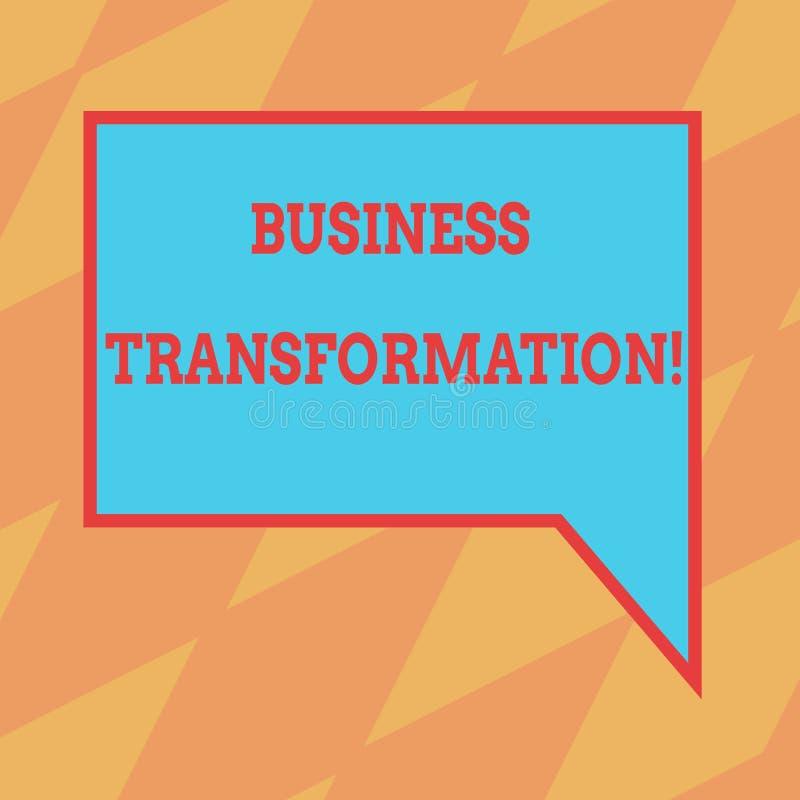Teksta seansu biznesu szyldowa transformacja Konceptualna fotografia Robi zmianom Prostokątne w conduction firmy ulepszenia puste ilustracja wektor