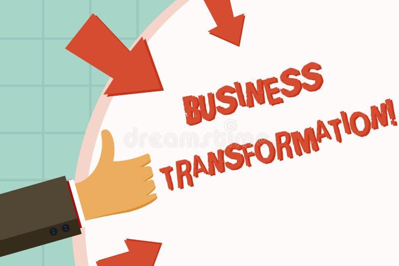 Teksta seansu biznesu szyldowa transformacja Konceptualna fotografia Robi zmianom w conduction firmy ulepszenie royalty ilustracja