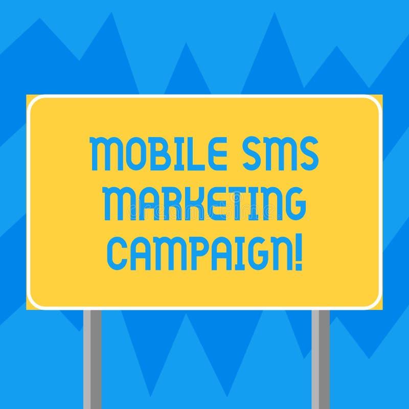 Teksta Sms szyldowa pokazuje Mobilna kampania marketingowa Konceptualnej fotografii promocyjnej kampanii Reklamowy komunikacyjny  fotografia stock